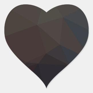 暗い多角形パターン ハートシール