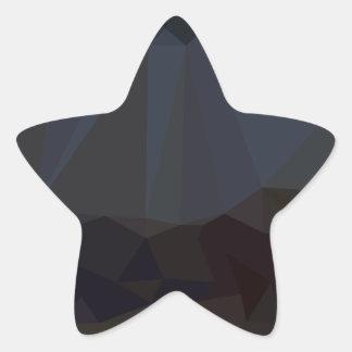 暗い多角形パターン 星シール