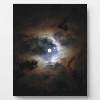 暗い夜の月 フォトプラーク