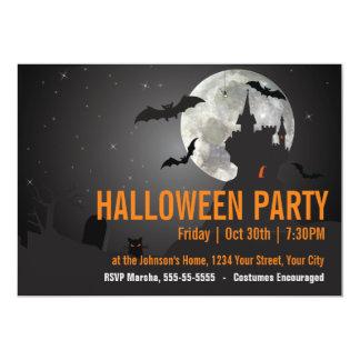 暗い夜ハローウィンパーティ 12.7 X 17.8 インビテーションカード