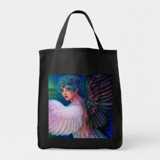 暗い天使の芸術のトート、孔雀の羽の超現実的な目 トートバッグ