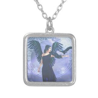 暗い天使 シルバープレートネックレス