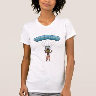 暗い女性のスカイダイビング Tシャツ