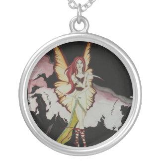 暗い妖精 シルバープレートネックレス