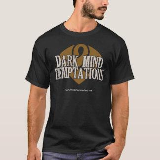 暗い心の誘惑の黒いTシャツ Tシャツ