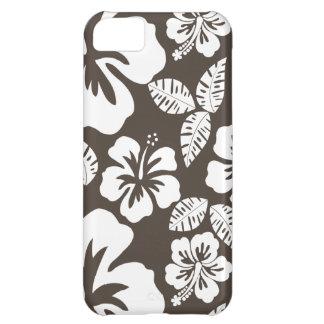 暗い暗灰色の熱帯ハイビスカス iPhone5Cケース
