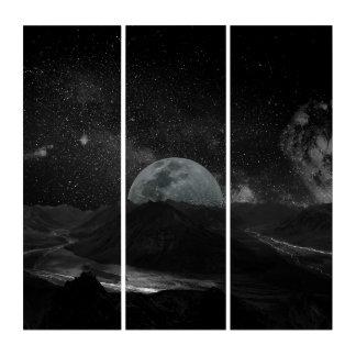 暗い月の月の調査はアクリルのトリプティクを揺すります トリプティカ