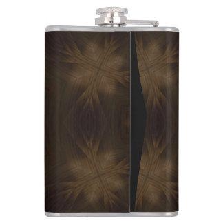 暗い木パターン フラスク