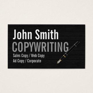 暗い木製のタイポグラフィのCopywritingの名刺 名刺