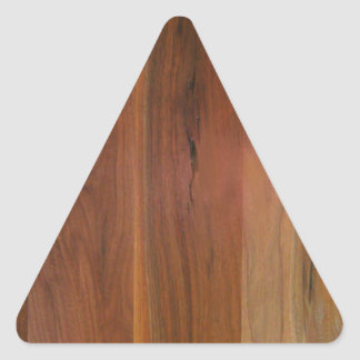 暗い木製の穀物の床 三角形シール