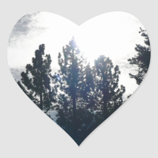 暗い木、軽い空 ハートシール