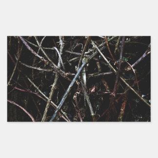 暗い根の質 長方形シール