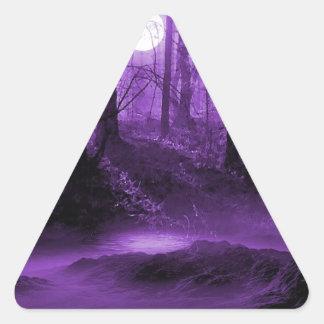 暗い森林 三角形シール