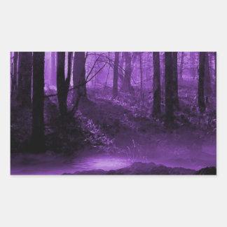 暗い森林 長方形シール