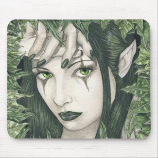 暗い森林mousepadの妖精 zazzle_mousepad