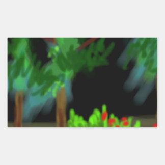 暗い森 長方形シール