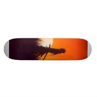 暗い武士 スケートボード