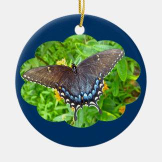 暗い段階のトラのアゲハチョウの蝶オーナメント セラミックオーナメント