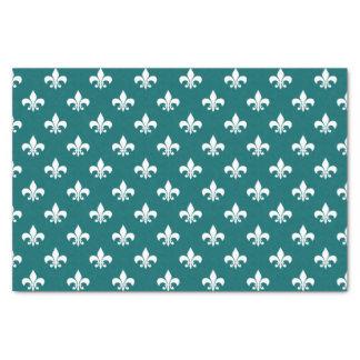 暗い水の青の白いアヤメ 薄葉紙