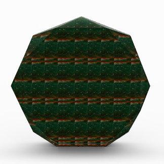 暗い水晶平板パターン緑の低価格のギフト 表彰盾