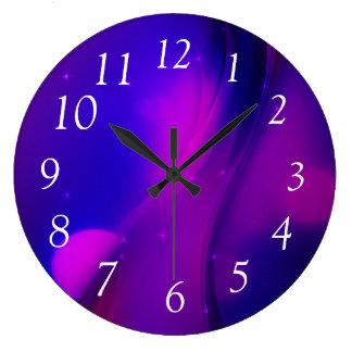 暗い波 ラージ壁時計