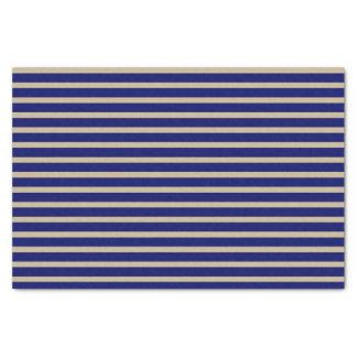 暗い濃紺およびベージュ色ストライプ 薄葉紙