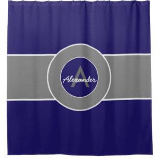 暗い濃紺の灰色 シャワーカーテン