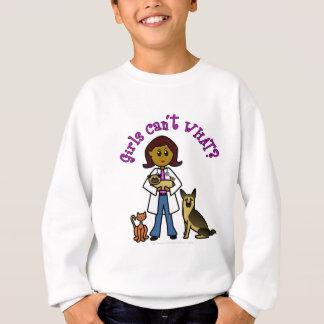 暗い獣医の女の子 スウェットシャツ