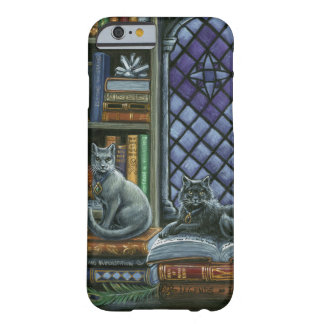 暗い知識の図書館猫のiPhone 6sやっとそこに Barely There iPhone 6 ケース