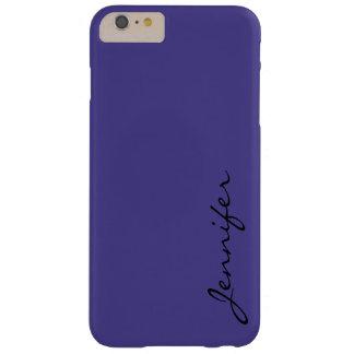暗い石板青い色の背景 BARELY THERE iPhone 6 PLUS ケース