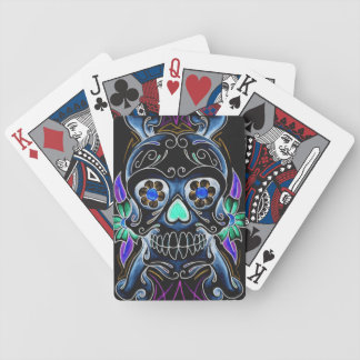 暗い砂糖のスカルのカジノカード バイスクルトランプ