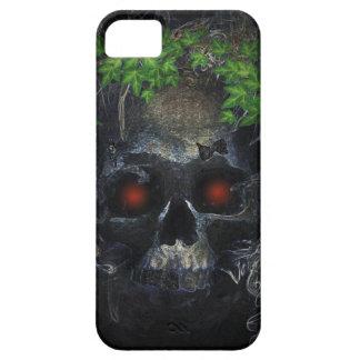 暗い研がれたキヅタの王冠のスカル iPhone SE/5/5s ケース