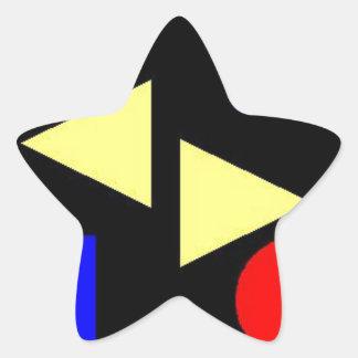 暗い第一次 星シール
