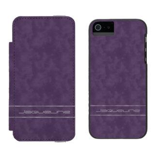 暗い紫色およびラベンダーの名前 INCIPIO WATSON™ iPhone 5 財布 ケース