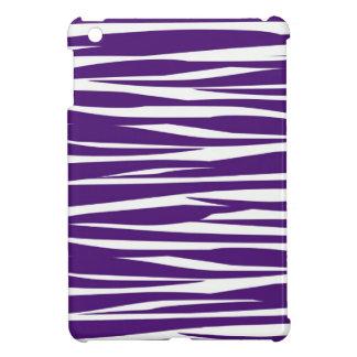 暗い紫色および白いシマウマのプリントのiPad Miniケース iPad Mini カバー