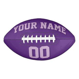 暗い紫色および薄紫のカスタムなフットボール アメリカンフットボール
