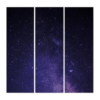 暗い紫色のまぶしさの宇宙のアクリルのトリプティクの壁の芸術 トリプティカ