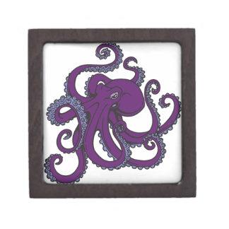 暗い紫色のタコ ギフトボックス