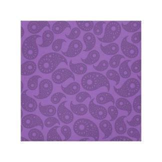 暗い紫色のペーズリー キャンバスプリント