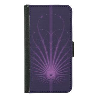 暗い紫色の新しいの羽 GALAXY S5 ウォレットケース