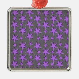 暗い紫色の踊りの星 メタルオーナメント