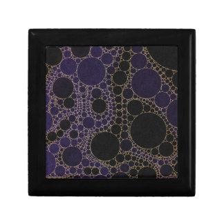 暗い紫色の青の抽象芸術 ギフトボックス