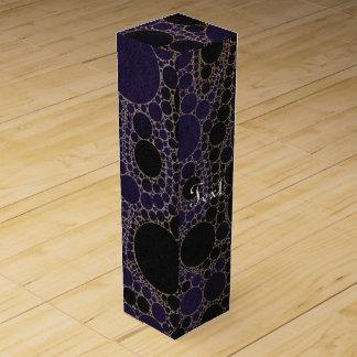 暗い紫色の青の抽象芸術 ワインギフトボックス