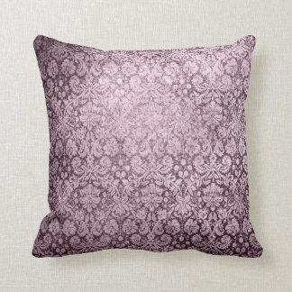 暗い紫色のFlorish クッション