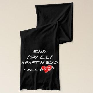 暗い背景の終わりのイスラエルのアパルトヘイト スカーフ