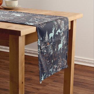 暗い自然のbohoの種族パターンの白熱 ショートテーブルランナー