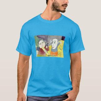 暗い色の掘り出し上手のTシャツの夜明け Tシャツ