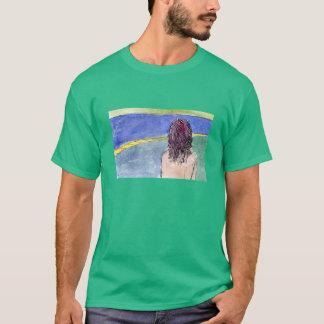 暗い色の路傍のロバの巣のTシャツ Tシャツ