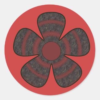 暗い花 ラウンドシール