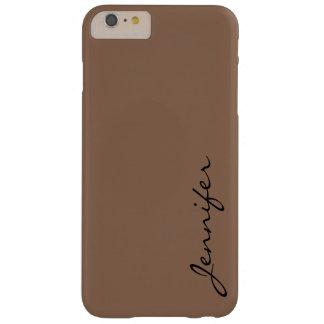 暗い茶色tangelo色の背景 barely there iPhone 6 plus ケース
